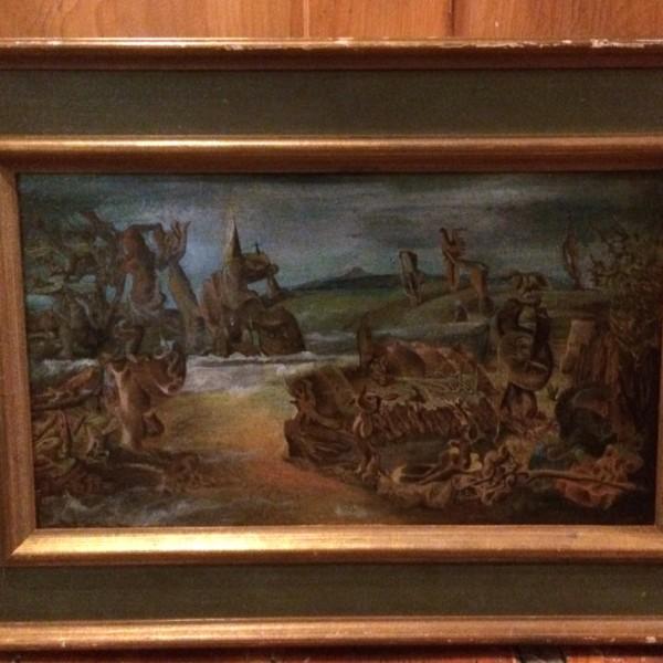 Boris Mango Oil Painting Surreal landscape 1934