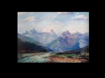 Leonard Moore Davis (1864–1938) Oil Painting of Alaska