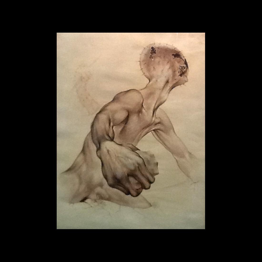 Guillermo Meza (1917 – 1997) Surrealist Painting