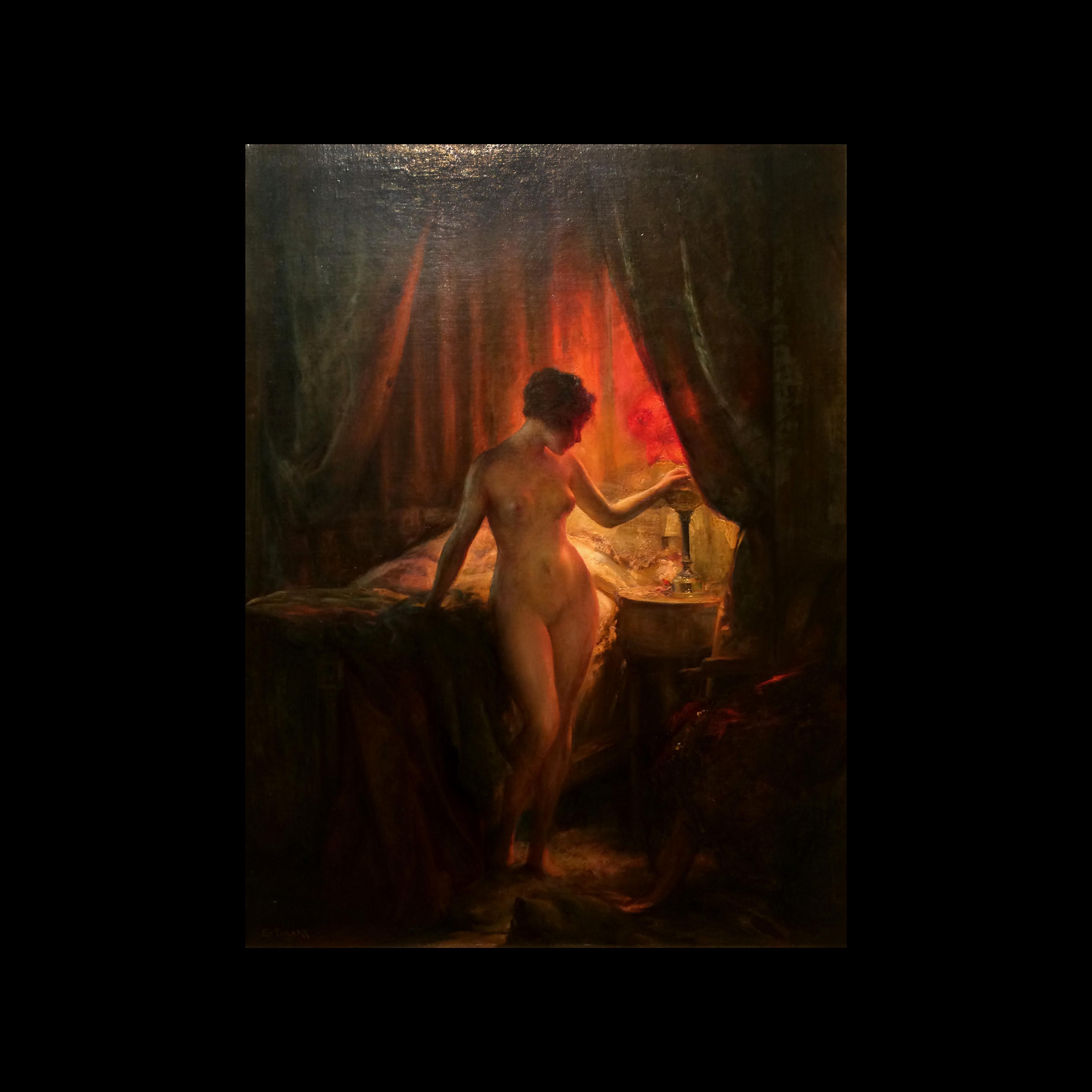 Emile Tabary (1857 – 1927) Oil Painting Female Nude