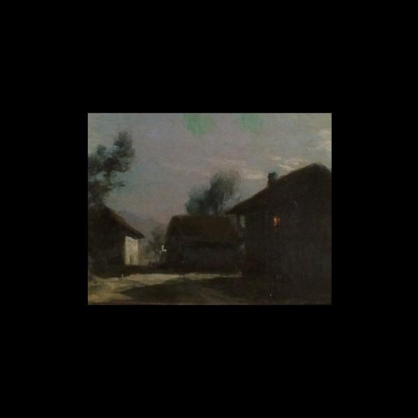 Francois Cachoud (1866 - 1943) Oil Painting The Farmhouse