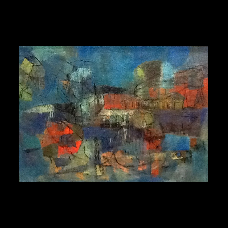 Lily Harmon (1912 – 1998) Oil Painting Abstract