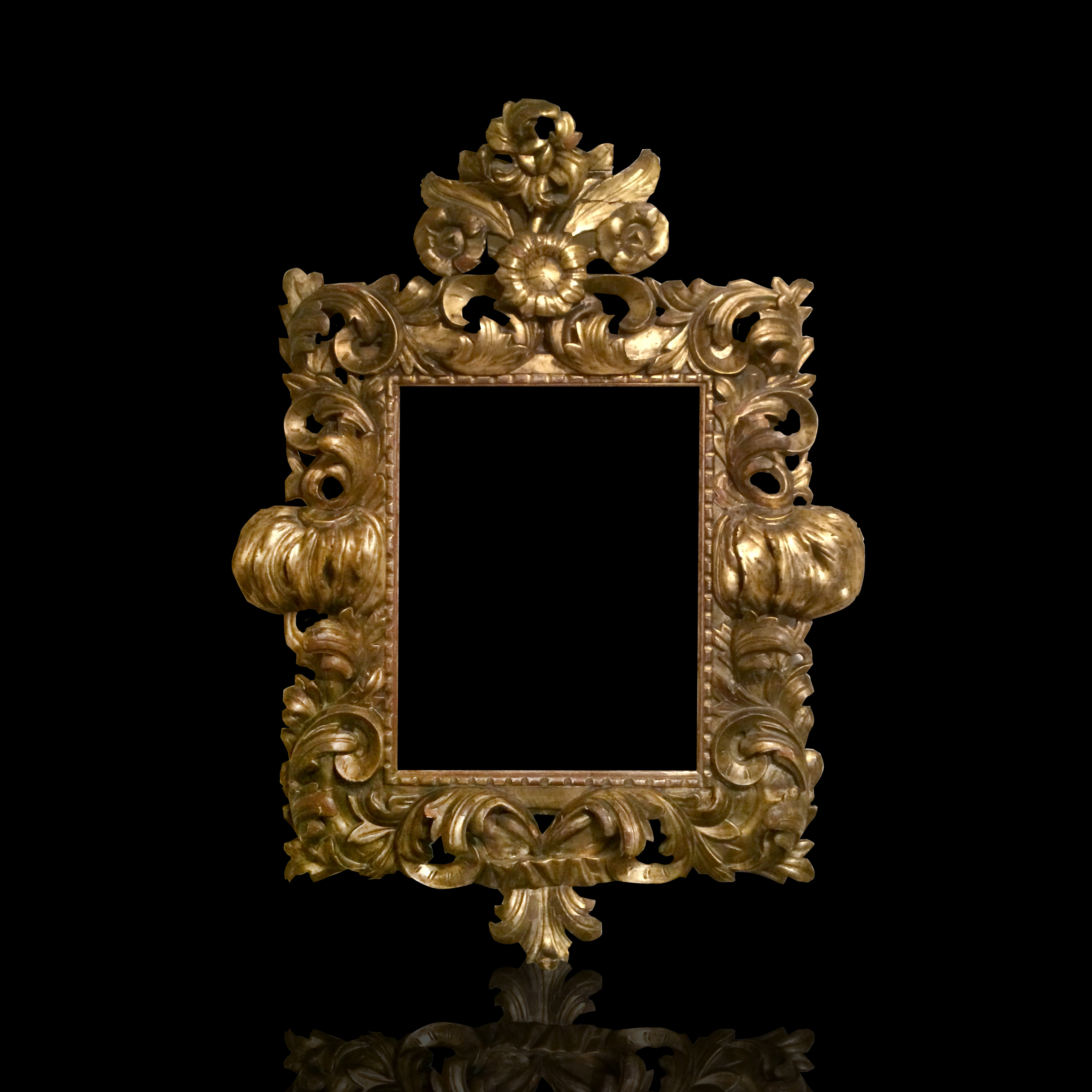 Hand-Carved Wooden Gilt Late Rococo Frame c.1780-1820