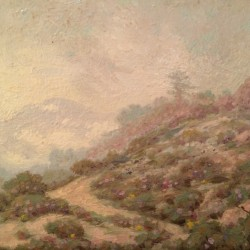 Harry Victor Law (1868 – 1941) Oil Painting Souvenir from Mt. Lowe
