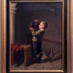 Pierre-Joseph Toussaint [1822-1888] Belgian painters : Midday drink, 1867.