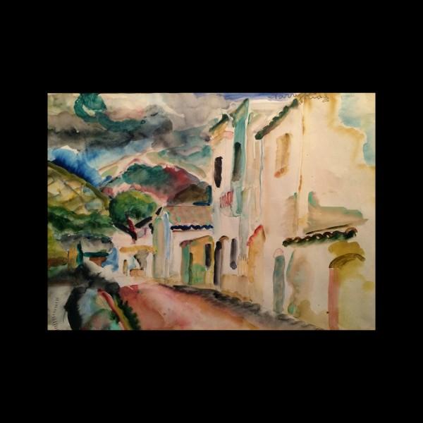 Harry Kidd (1899-1964) Texas artist Fave painting Spain circa 1920