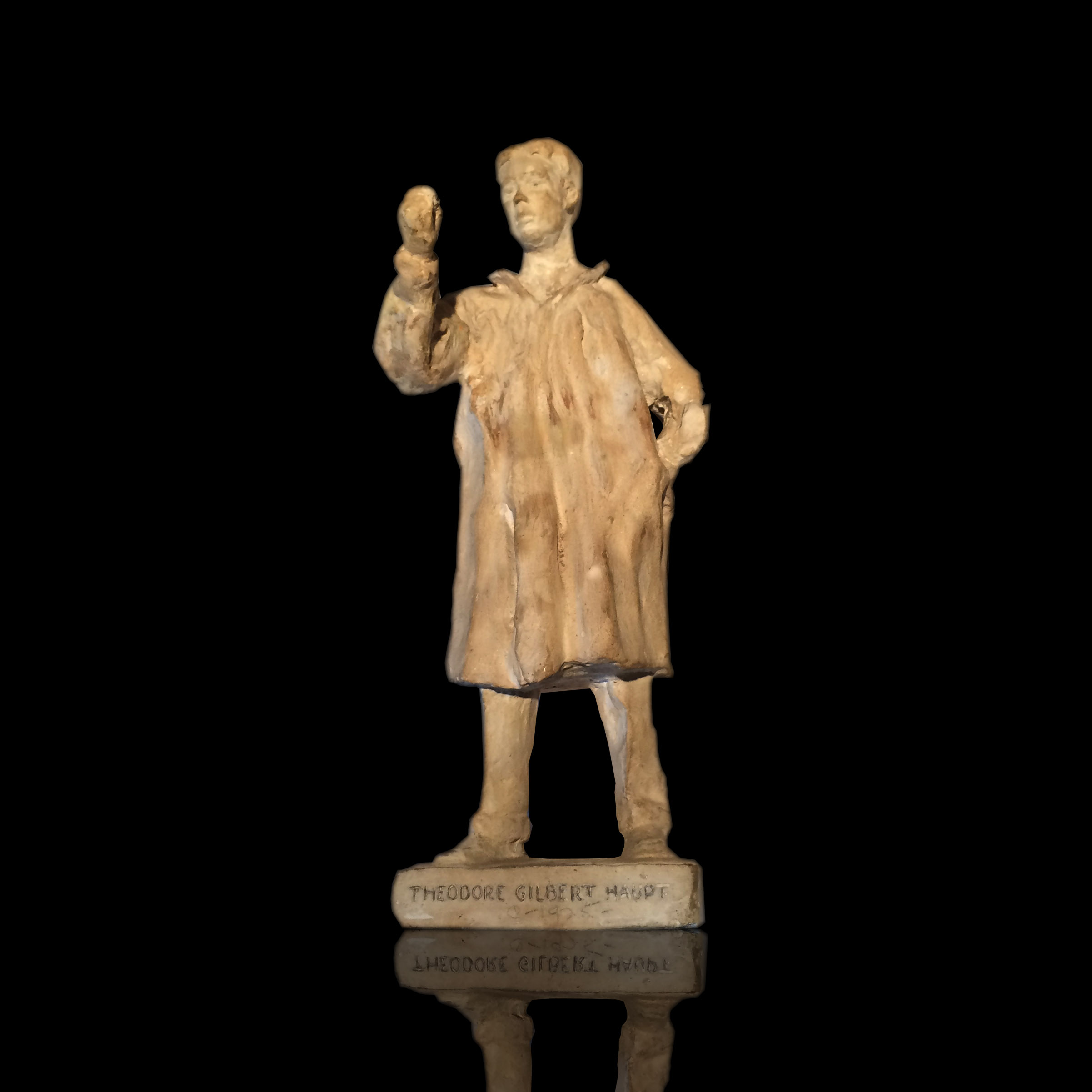 John Steuart Curry (1897-1946) American Regionalism Sculpture of Theodore Gilbert Haupt c.1925