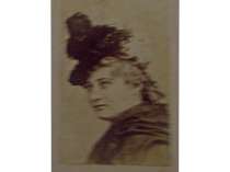 Miss Mary Anderson photograph with Lady of Lyons broadside c. 1870