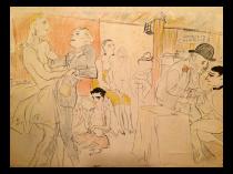 Marcel Vertes (1895-1961) French artist print titled Et Les Dancings c.1925