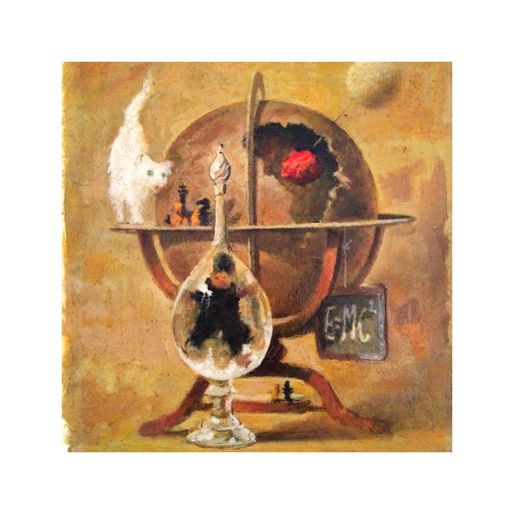 Birney Lettick [1919-1986] American illustrator oil painting Still life of Objects c.1960