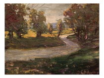 Charles E Rodick Dublin art colony artist painting of Landscape c.1915