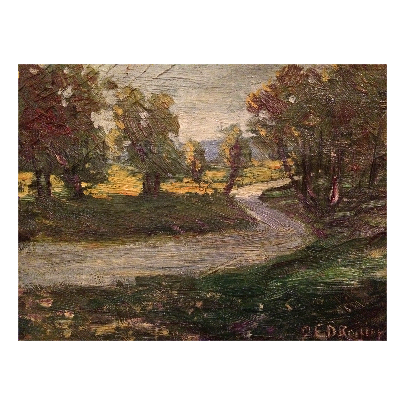 Charles E Rodick Dublin art colony artist painting of Landscape c.1915
