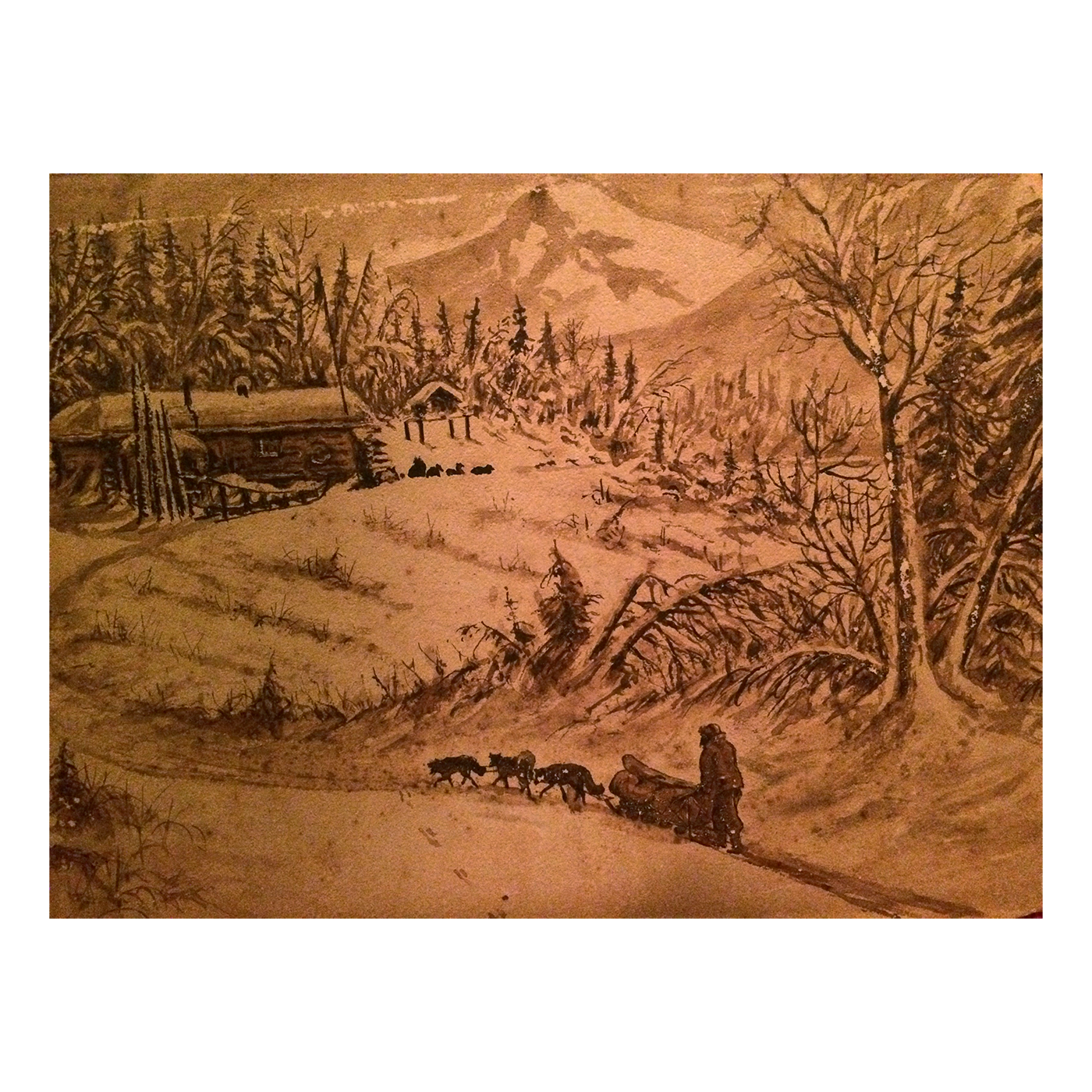 Alaskan folk art drawings titled Yukon Territory c.1880