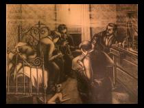 George Von Physter (1909-1986) American artist original print of Jam Session
