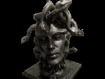 Horacio Bustos 1939- Argentine sculptor Medusa as a Man c.2010