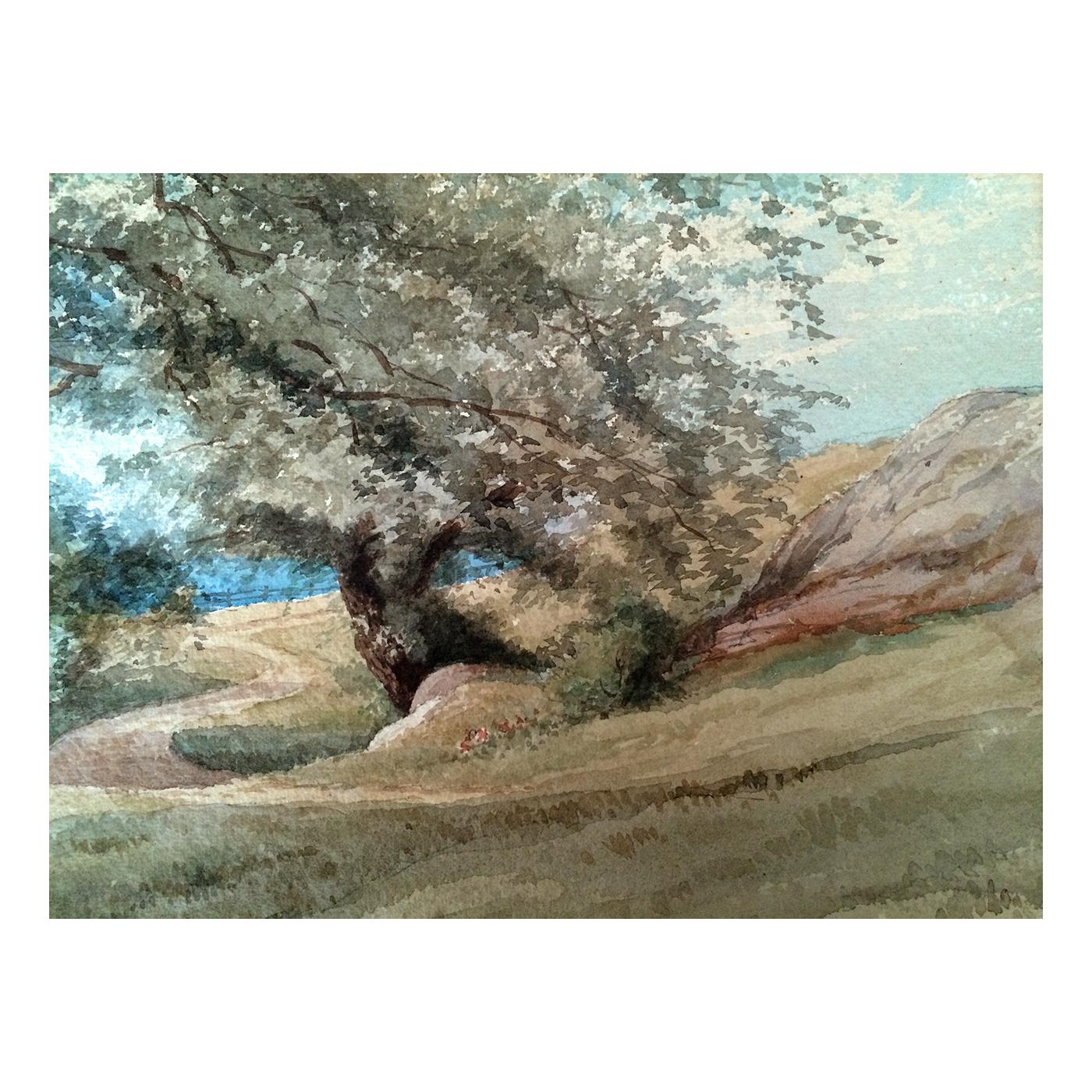 Frederick B Allen Boston artist Landscape c. 1892