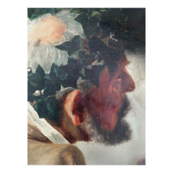 Old Master Fragment of a man with head of leaves c.1800