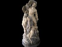 Boston Chalk-ware Sculpture circa 1887