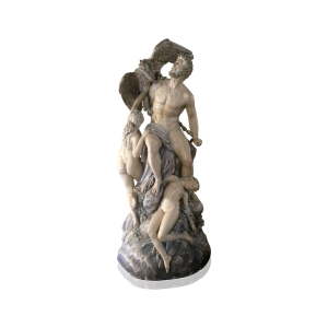 Boston Chalk-ware Sculpture circa 1887