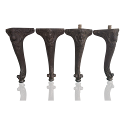 Set of Four Antique carved rosewood Table legs circa 1860