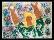 Yanni Posnakoff (1933- ) Greek /Russian artist Modern Figure 1966