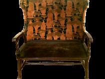 English Arts and Crafts Settee Textile design CFA Voysey,William Morris influence circa 1900