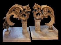 Mythological marble Architectural Fragments circa 1850