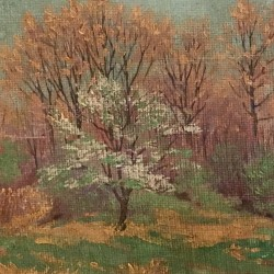 "Tom Wilder (1876-1956) Michigan/New Hampshire impressionist painting ""Springtime""circa 1920"