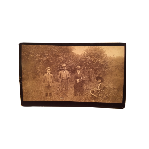 """""""My New Bicycle"""" Outdoor Family Bridgeport Connecticut Photo circa 1890"""