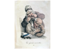 "Louis-Leopold Boilly [1761-1845] French Artist ""Les epouoc assortis"" Circa 1825"