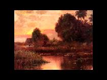 "Juan Gil Garcia [1879-1931] Spanish Lived and Painted in Cuba ""CASA CERCA DE LA HABANA"" circa 1915"
