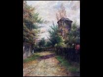 "Julius F Dielmann [1862-1931] German Impressionist Painting ""Morning light"" Circa 1890"