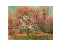 "Tom Wilder [1876-1956] Michigan/New Hampshire Impressionist Painting ""Springtime"" circa 1920"