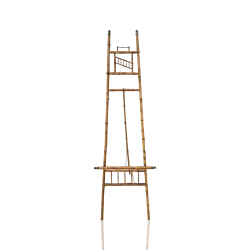 Victorian bamboo and brass easel circa 1900