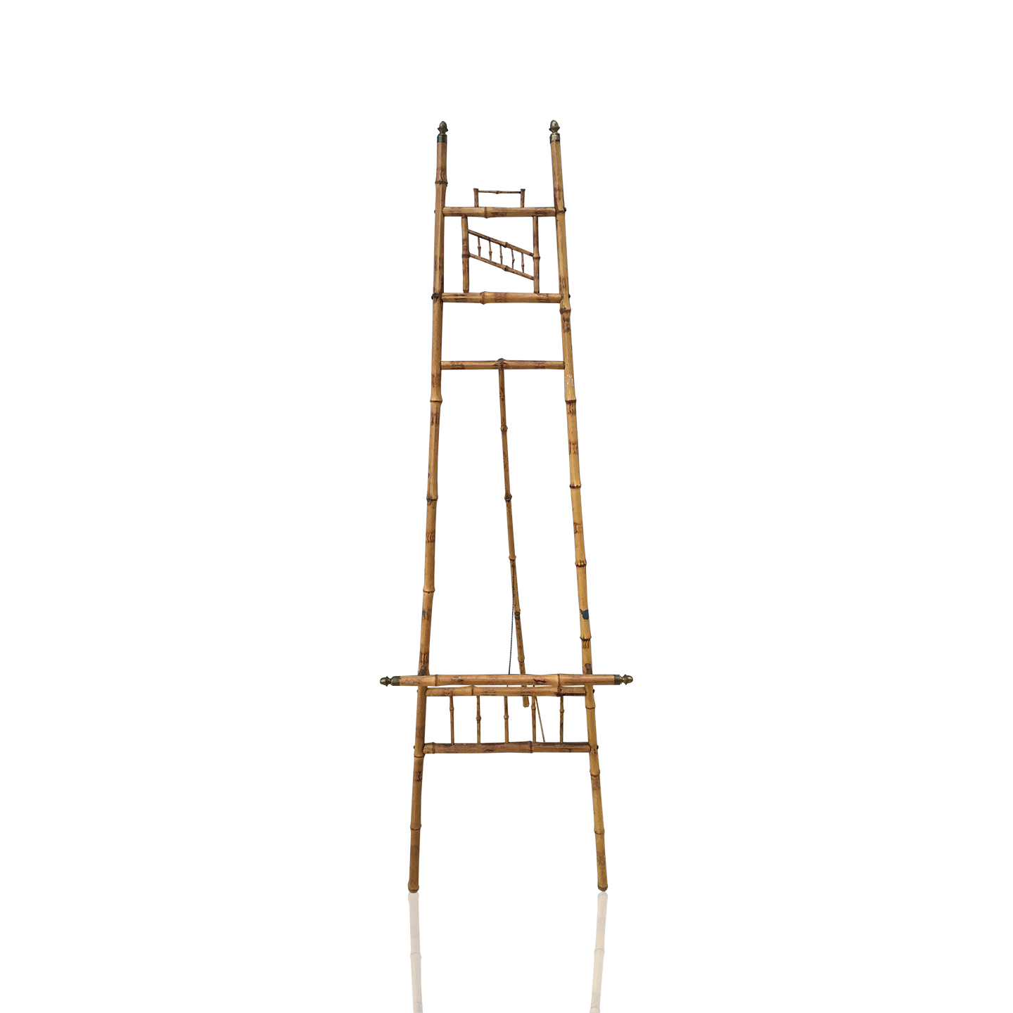 Victorian Bamboo And Brass Easel Circa 1900 From Here To