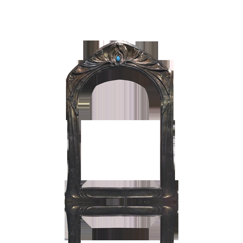 Vienna Secessionist Pewter Mirror Frame circa 1890
