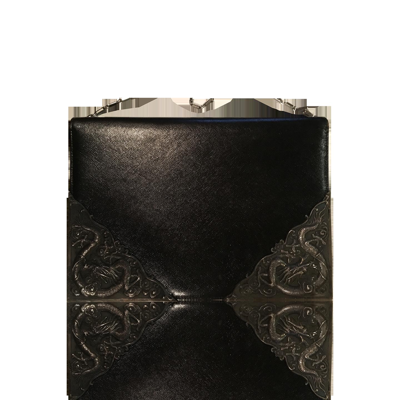 Art Bag Nyc Artbag Madison Avenew York Vintage Leather Handbag With Silver