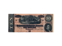 1864 Ten Dollar Confederate Civil War Note