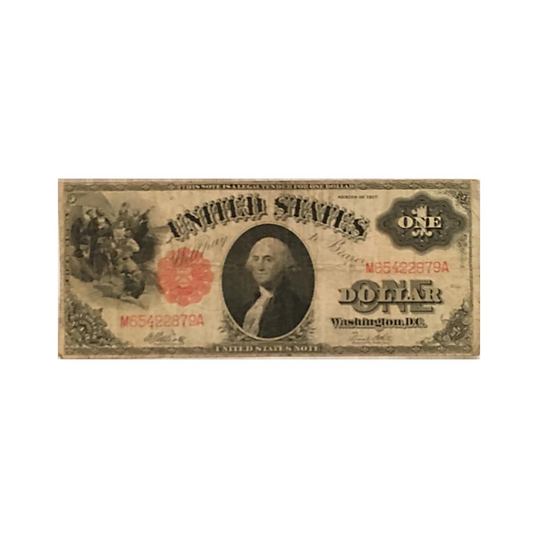 "1917 Series "" Washington"" One Dollar Bill"