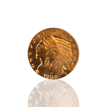 $5 Gold American Indian Coin, 1909