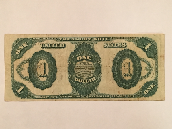 """1891 """"Stanton"""" large One Dollar treasury coin note"""