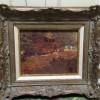 "Nicholas Richard Brewer [1857-1949] Minnesota / Texas Impressionist Painter ""Landscape with Animals Feeding"" circa 1920"
