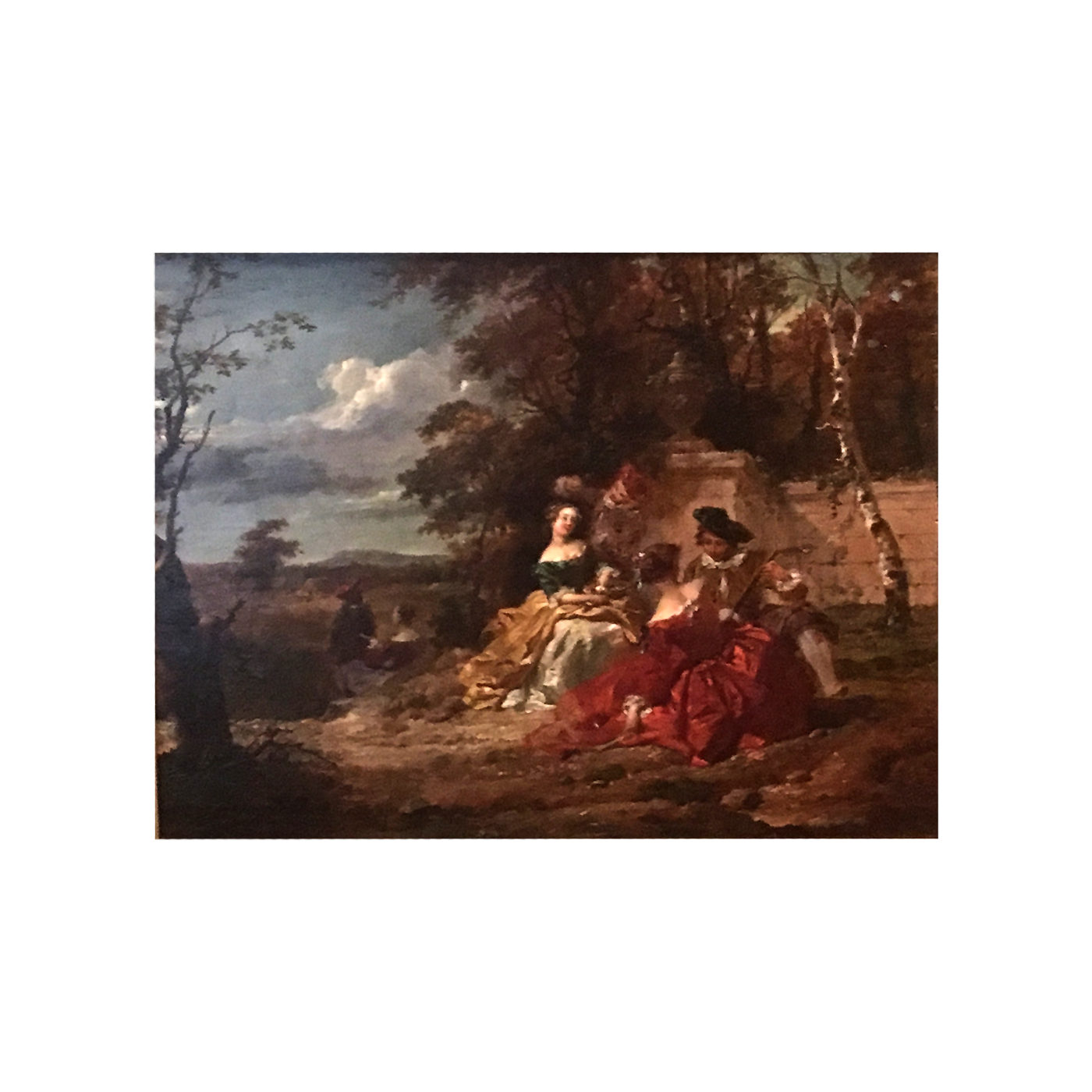 "In the Manor of Jean Antoine Watteau ""Figures in the Garden"" circa 18th-century"