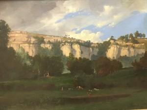 "Leon-Victor Dupre (1816-1879) French impressionist Barbizon ""Landscape with Mountain "" circa 1860"