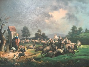 """Germanic School signed illegibly """"The Approaching Storm"""" circa 1790-1810"""