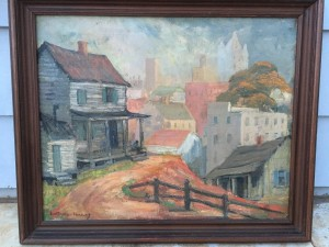 """Jean Robinson Flemming (1874-1956 ) American Southern Impressionist painter """"Old South,New South"""" circa 1930"""