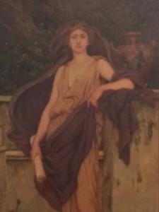 "Robert Van Sewell (1860-1924) American Art Nouveau Illustration ""Sapientia"" circa 1890"