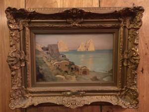 Lord Frederic Leighton (1830-1896) British Impressionist Coastal Scene with Ruins circa 1890