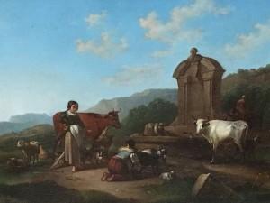 "Italian school ""On the Road To Rome"" circa 1860"