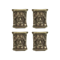 American School Aesthetic Movement Set of four Aesthetic Movement sculptures, c.1890-1900 Solid nickel silver (60% copper/20% nickel/20% zinc) 2-1/2 L x 2 W x 2-3/4 H inches
